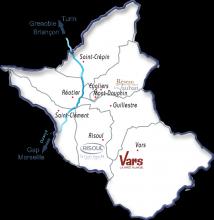 Carte du territoire du Guillestrois